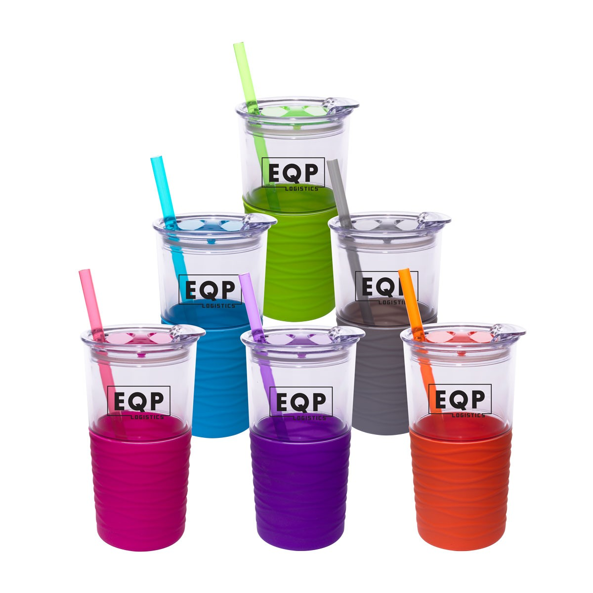 Double Wall Tumbler with Sleeve & Straw