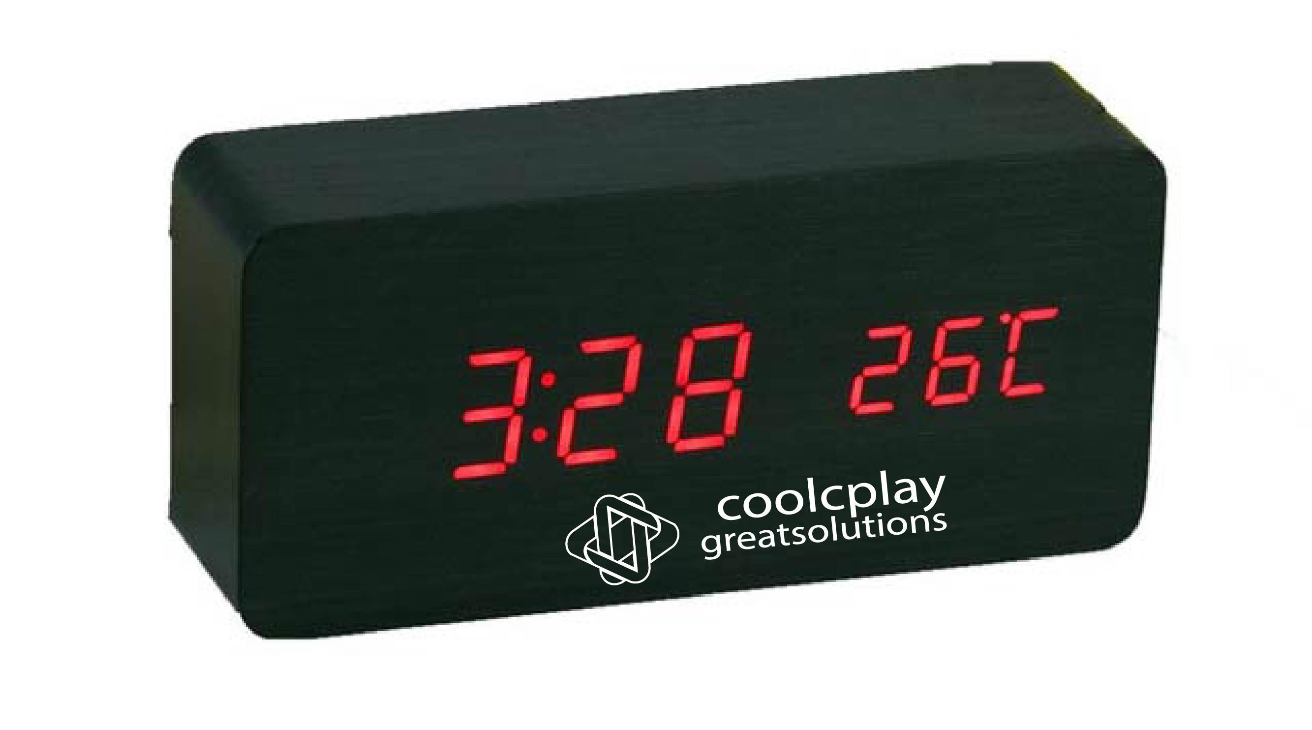 Wooden Clock Rectangular-Shape