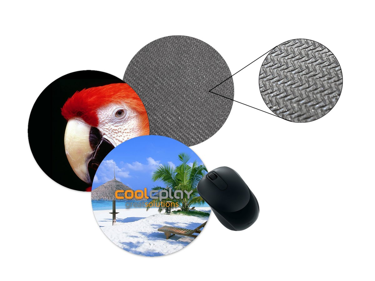 "Full Color (4CP) - Round Microfiber Mouse Pad (8"" Diameter)"