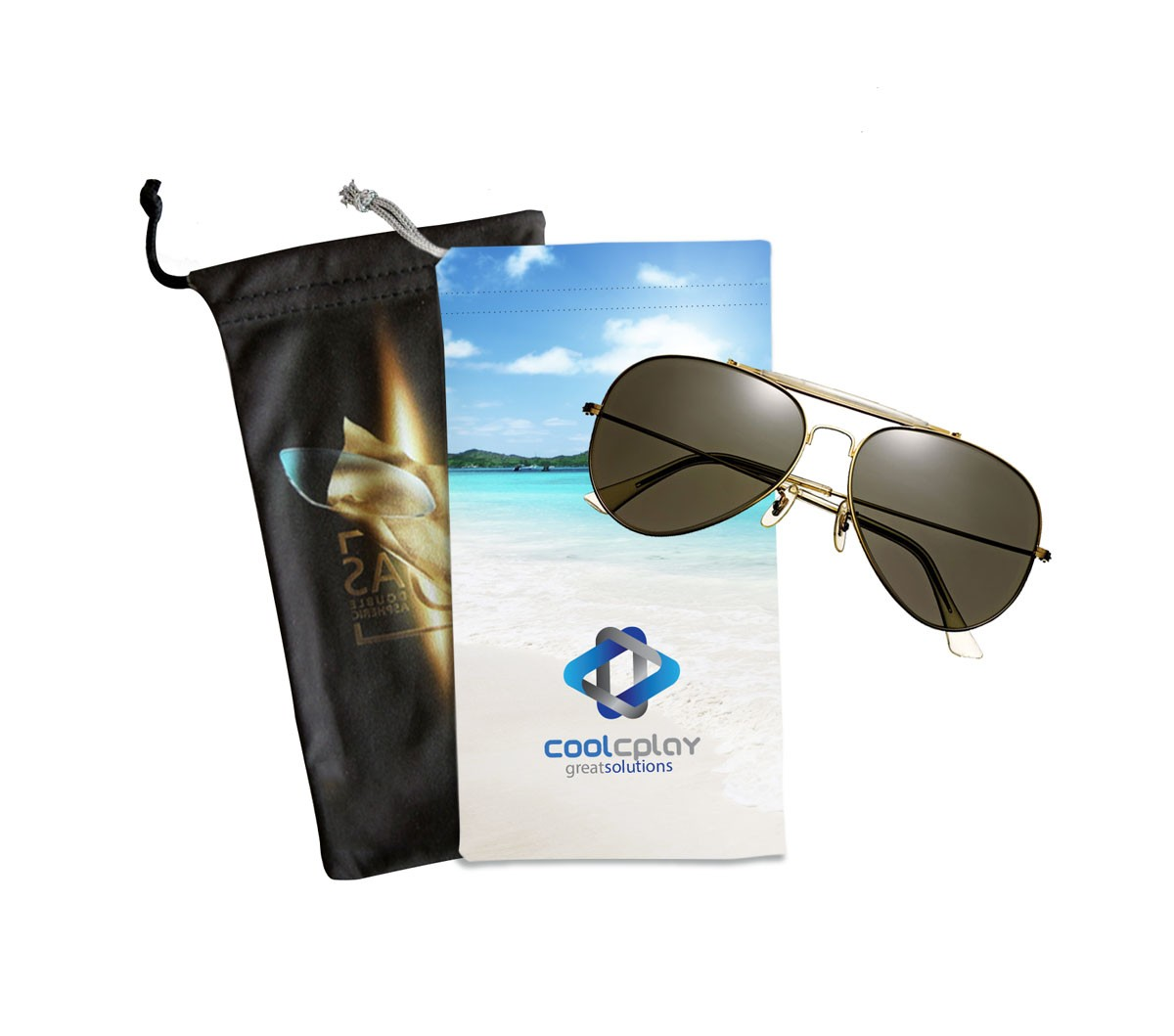 """4"""" X 8"""" Digitally Imprinted Glasses Pouch"""