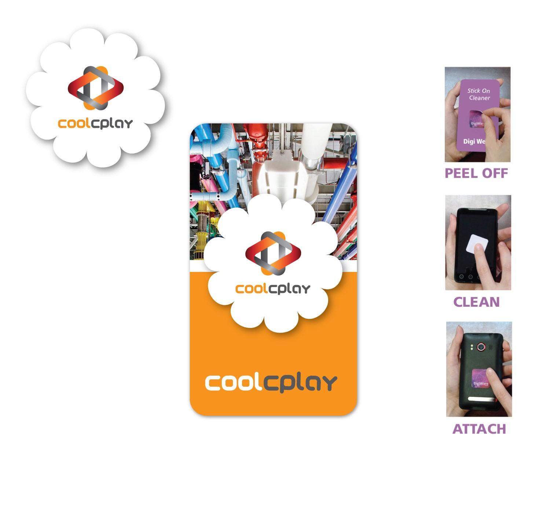 """Digicleaner Full Color Screen Cleaner Sticker - Flower Shape (1.57""""x 1.57"""")"""