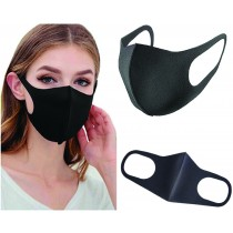 Face Mask. Super Soft, Cool, Comfortable. Bacteriostatic Reduction Rate of 99.9% -  FULL BLACK