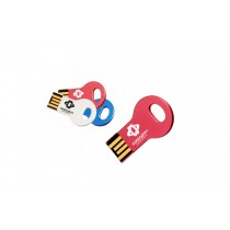 128 MB Round Metal Key Shaped USB Flashdrive