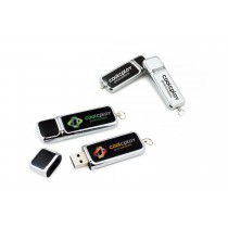1 GB Leather and Metal USB Flashdrive