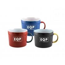 12 oz Color Glazed Mug