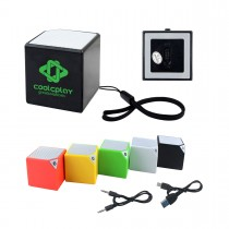 Mini Cube Stereo Bluetooth Speaker w/Wrist Strap