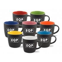 12 oz Matte Coffee Mug with Burst of Color
