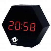 Wooden Clock Hexagon-Shape
