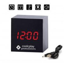 Wooden Clock Mini Cube-Shaped