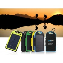 5000mah Dual-USB Solar Power Bank Battery Charger