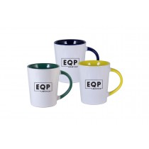 12 oz Glossy White Mug with Glossy Color Interior