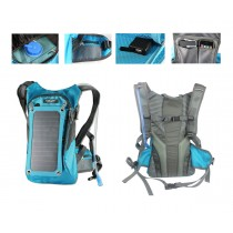 Solar Charger Panel Backpack with 2L Hydration Pack and Ergonomic Carrying System
